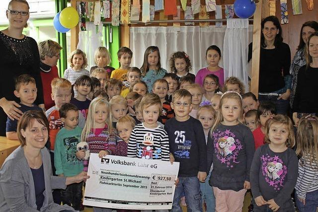 Spende für den Kindergarten