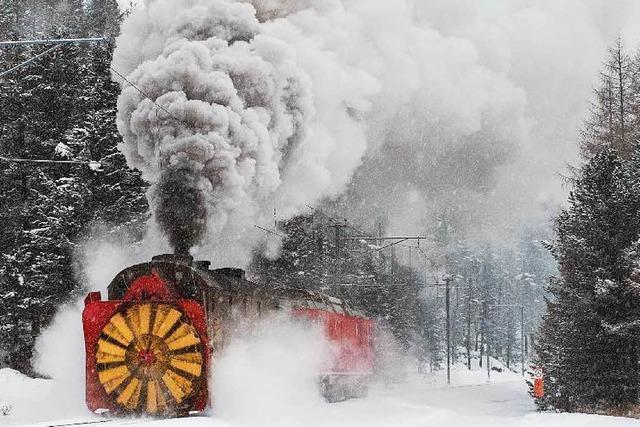 Eine Fahrt mit der Dampfschneeschleuder