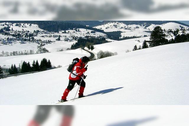 Durch frischen Schnee rund um Bernau