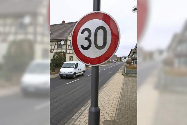 Tempo 30 auf alter B 36