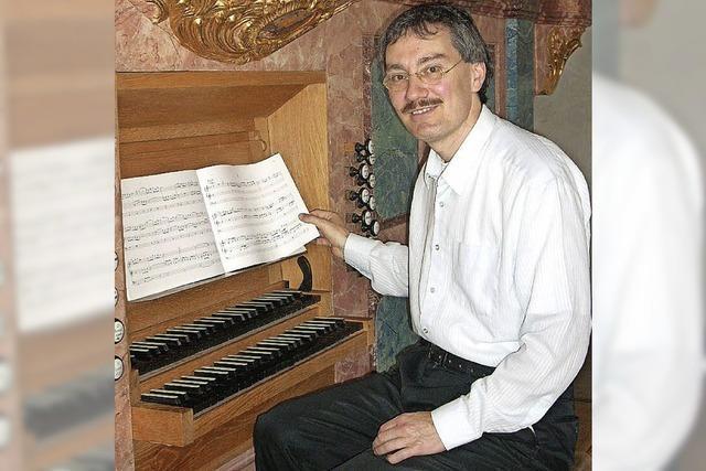 Organist Dieter Lämmlin in der Reihe