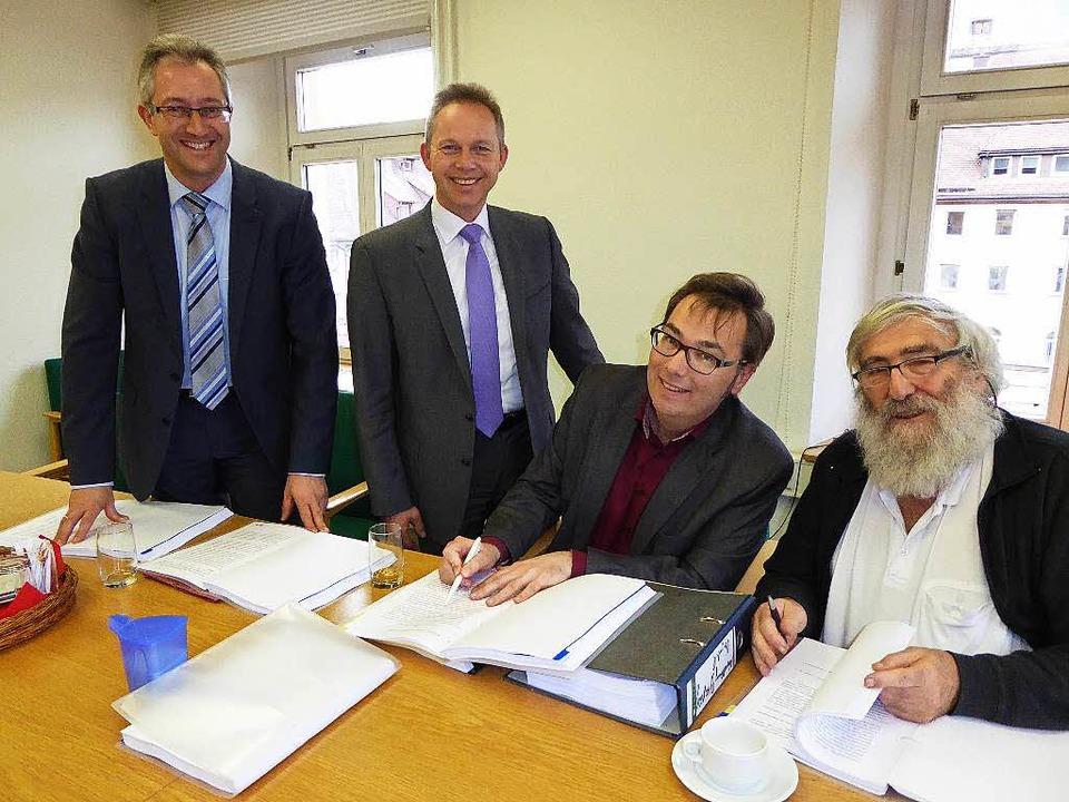 Guter Dinge sind (von links) EVTN-Gesc... und EVTN-Aufsichtsrat Michael Sladek.    Foto: Peter Stellmach