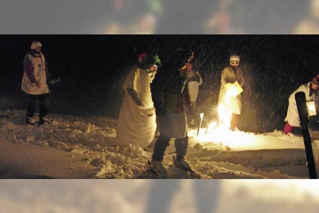 Hemdglunkis im Schnee