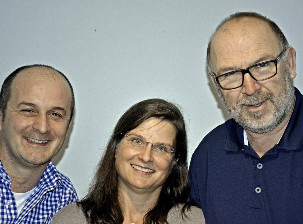 Das neue Führungstrio von links: Klaus Romeike, Ina Heidemann und Thomas Rist.   | Foto: Verein