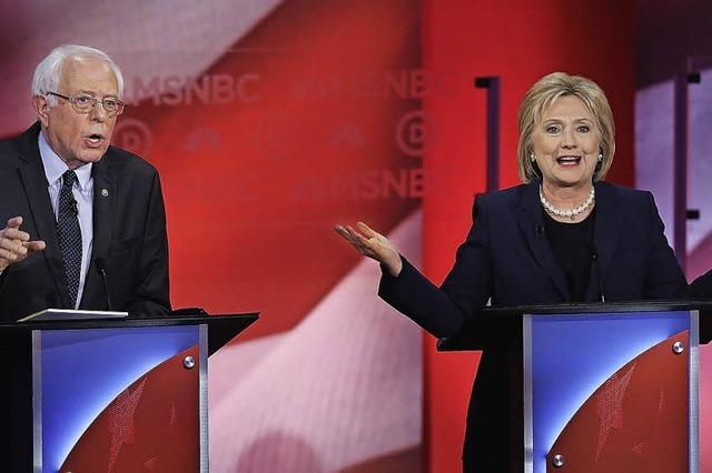 Hillary Clinton kämpft gegen die erste Niederlage