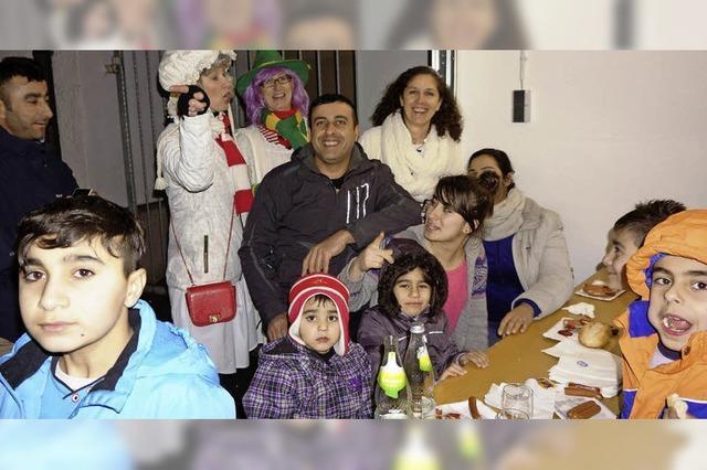 Flüchtlinge feiern Fasnet mit