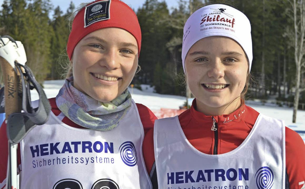 Nicola Lange (links) wurde bei den ält...alena Löffler sicherte sich Rang fünf.  | Foto: Junkel