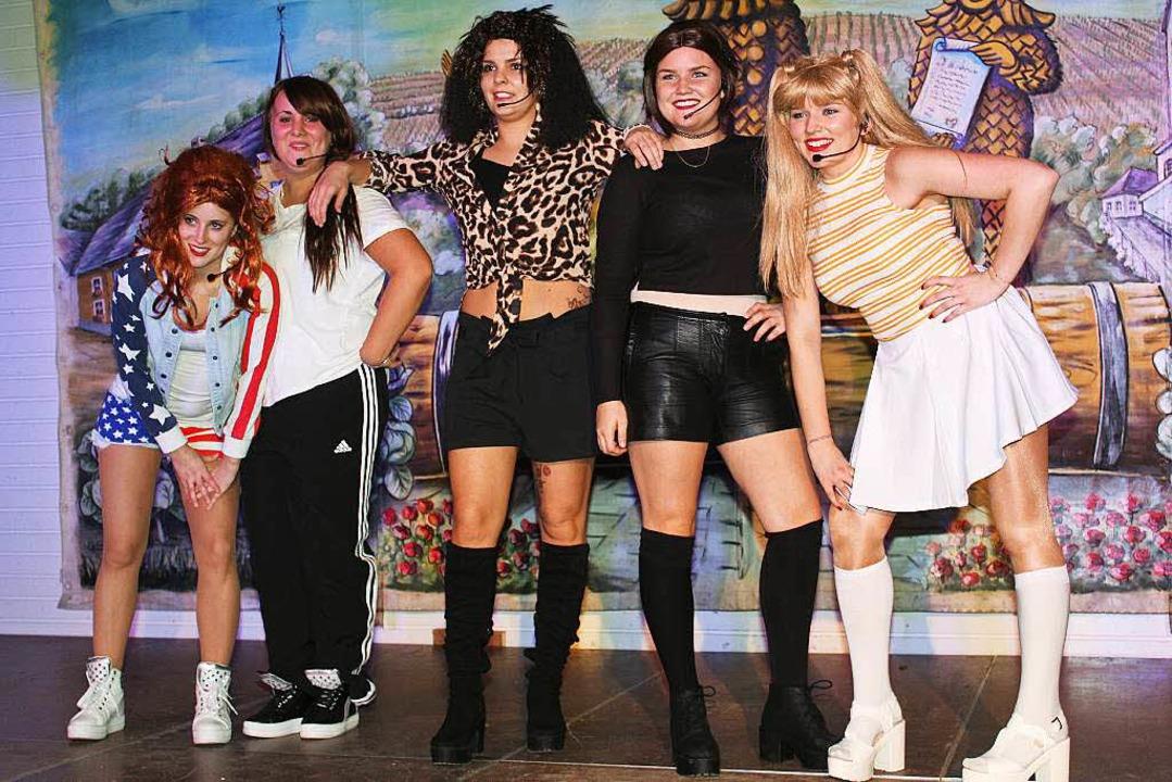 Krutstorze-Zunftabend in Gottenheim: die Spice Girls  | Foto: Mario Schöneberg
