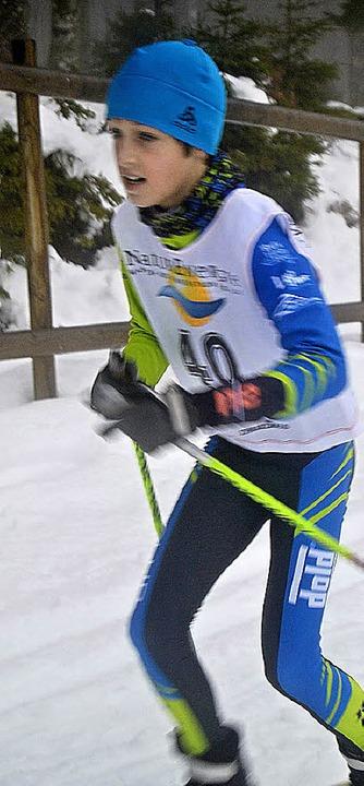 Jannis Dold läuft die schnellste Zeit über zwei Kilometer.   | Foto: Junkel