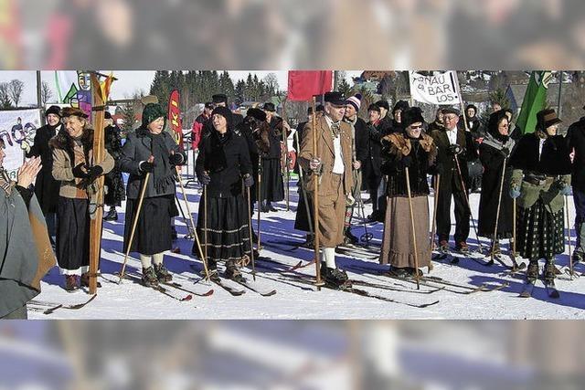 Historisches Skirennen auf dem Feldberg