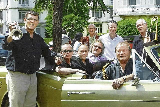 Die Albert-Louis-Jazzband spielt im Kybfelsen in Freiburg-Günterstal