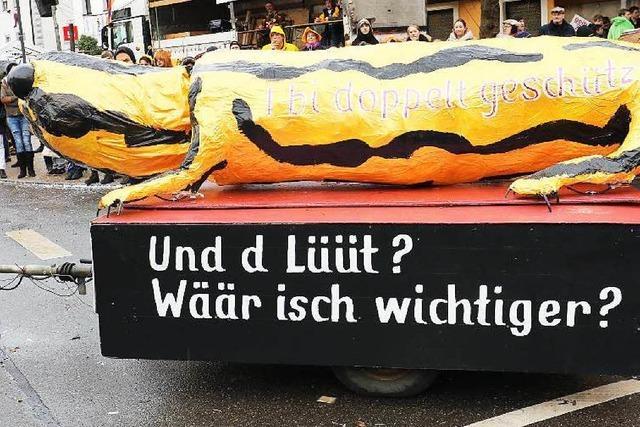 Werbung für die Straßenfasnet