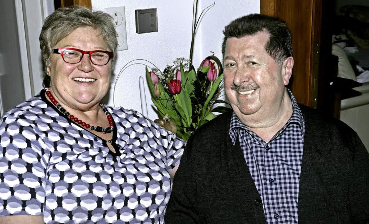 Ein Traumpaar als Wirtsleute der Endinger Ratsstube: Emmy und Max Schindler.  | Foto: Christel Hülter-Hassler