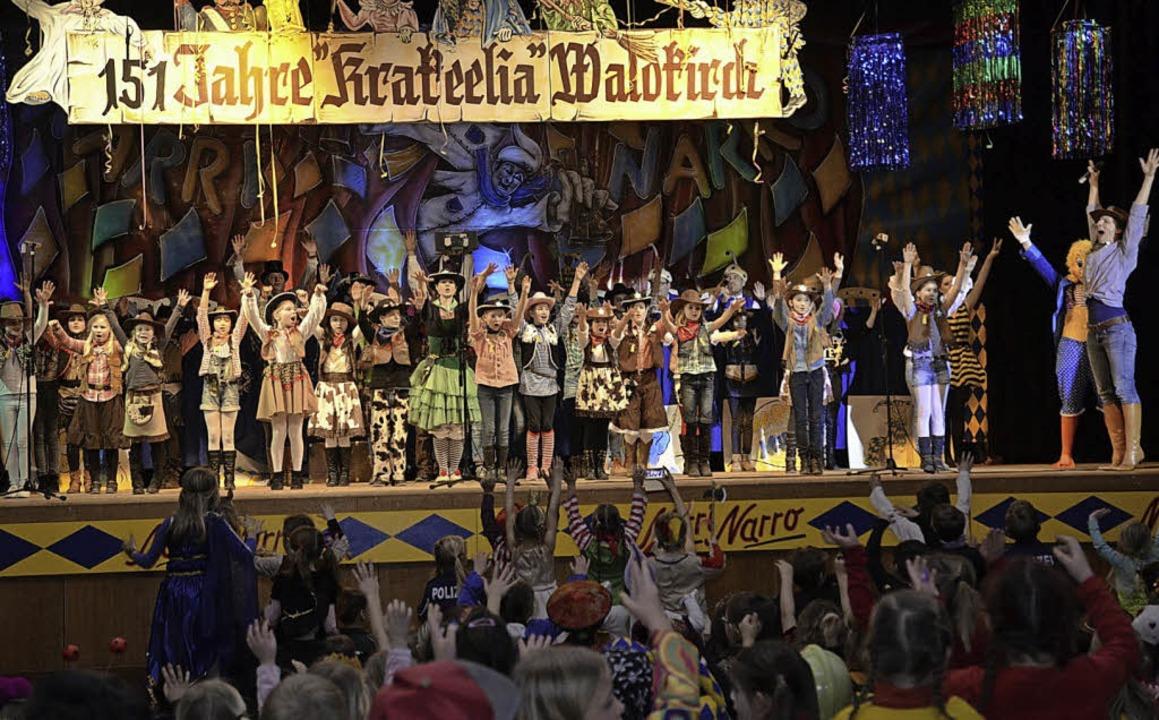 Die Cowboys und Cowgirls vom Ballettst...rball der Krakeelia in der Stadthalle.  | Foto: ZVG