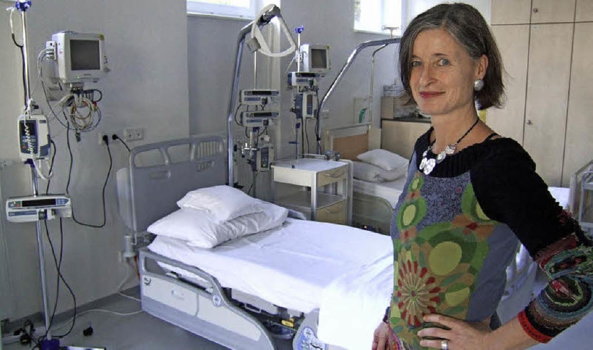 Silke Udri im Skills Lab des Bildungshauses Pflege   | Foto: Susanne Müller