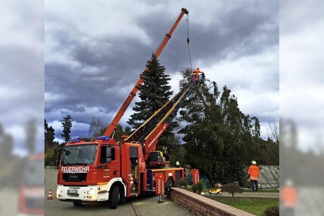 Die Feuerwehr im Sturmeinsatz