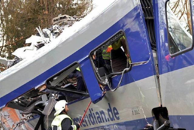 Kein Vermisster mehr nach Zugunglück in Oberbayern