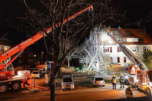 Sturmtief Susanna über Freiburg: Feuerwehr rückt 17 Mal raus