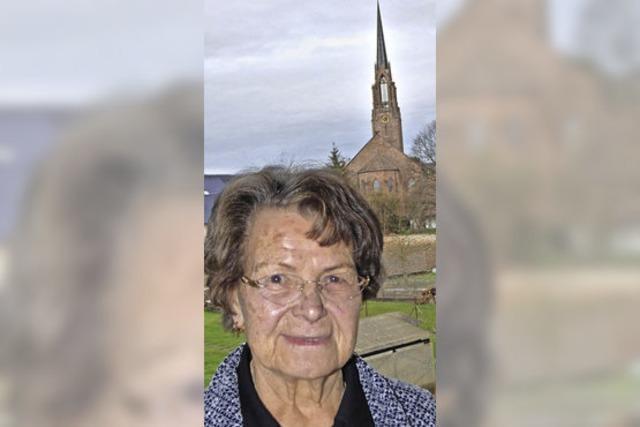 Dorothea Schnaiter ist 85
