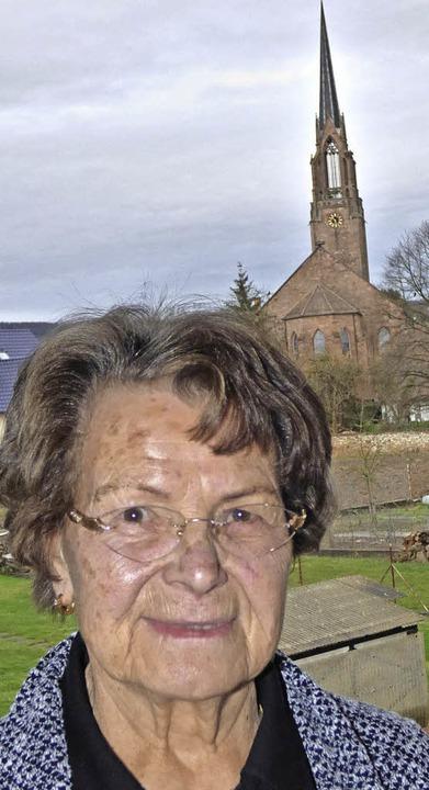 Dorothea Schnaiter feierte ihren 85. Geburtstag.    Foto: Brigitte Rüssel