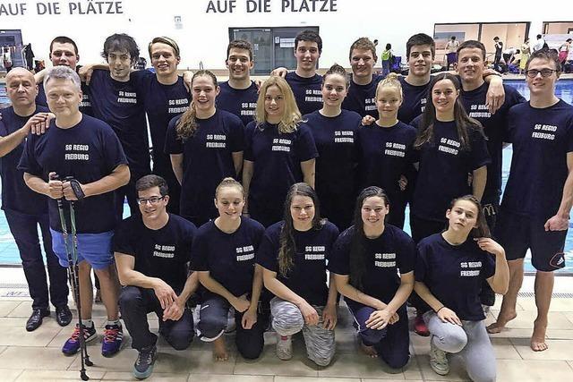 Die SG Regio Freiburg schwimmt weiter auf der Erfolgswelle