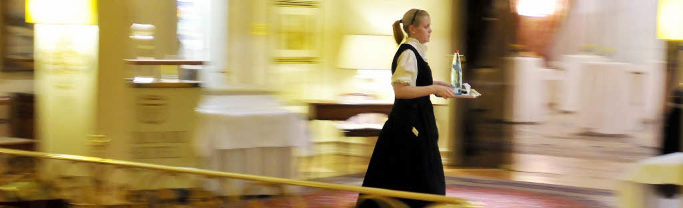 Arbeitgeber in der Hotellerie beklagen...e Flexibilität bei den Arbeitszeiten.     Foto: Ingo Schneider