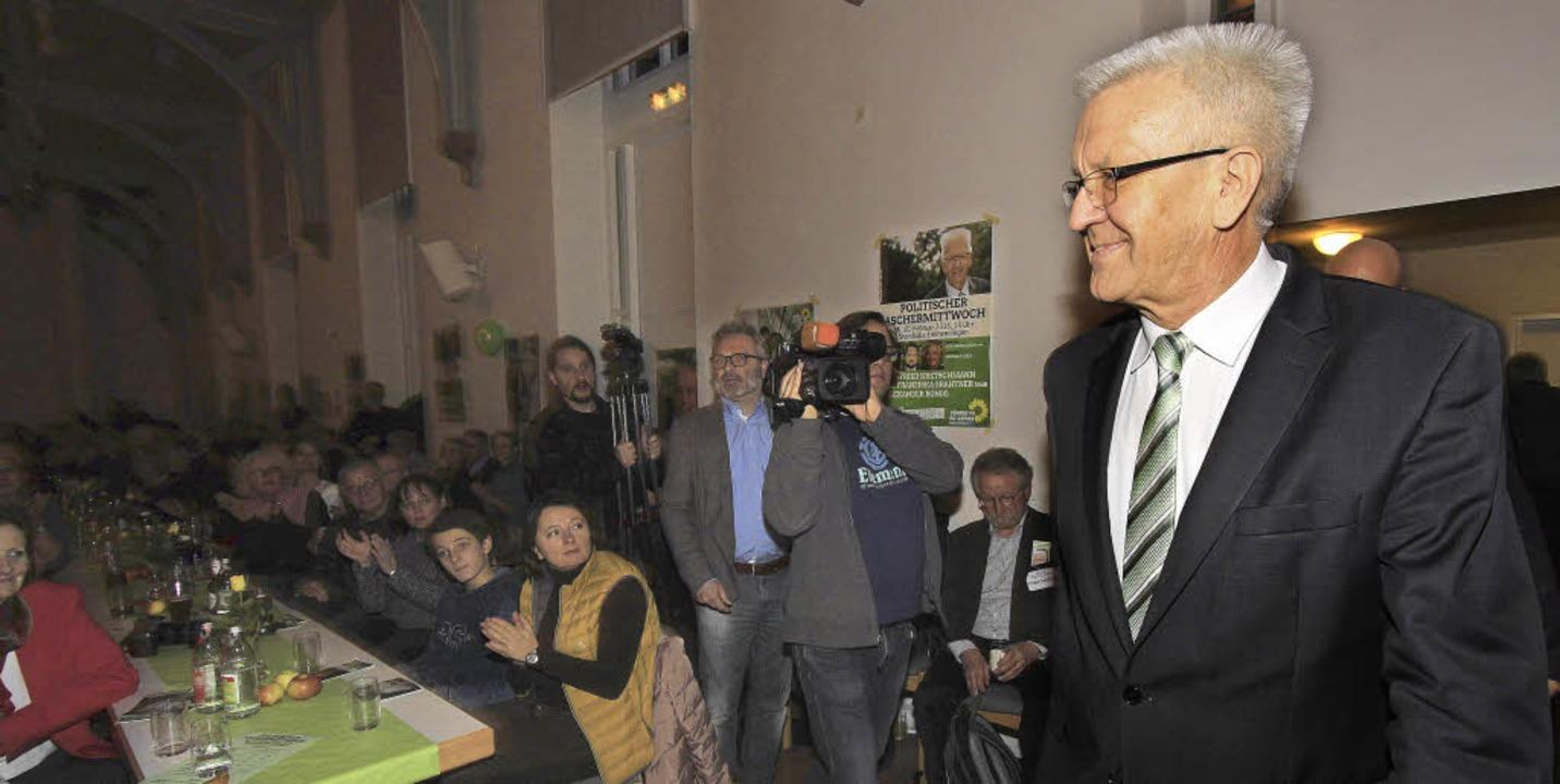 Winfried Kretschmann war Hauptredner b...chermittwoch der Grünen in Emmendingen    Foto: Patrik Müller
