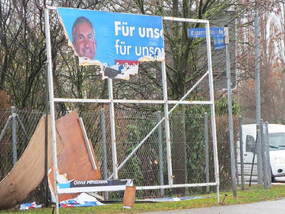 Das war einmal ein AfD-Plakat in Emmendingen.  | Foto: Privat