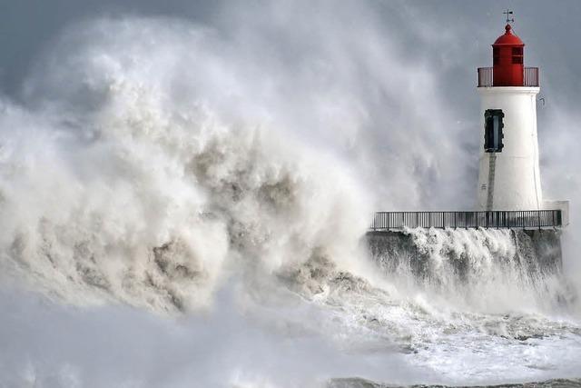 Orkan über Westeuropa
