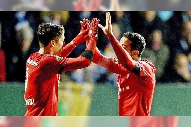 Bayern München und Hertha BSC Berlin im DFB-Pokal-Halbfinale