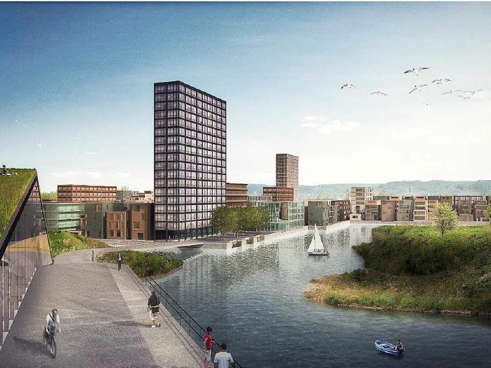 Diese Visualisierung  soll laut Gerard... noch keine architektonischen Planung.  | Foto: Rheinlagune AG/ mlzd architekten Biel