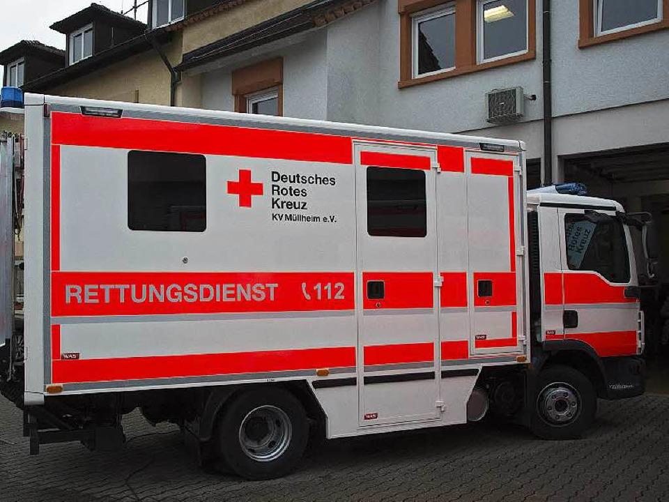 Eine einzigartige Konzeption: Ein zum Rettungswagen umgebauter Kleinlaster.    Foto: Volker Münch