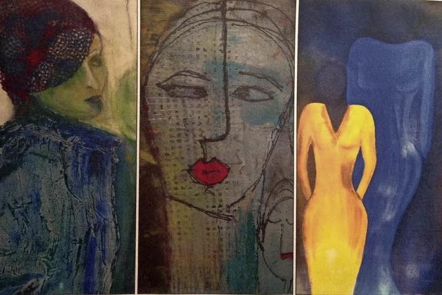 Werke von Renée Hansen, Ibo Rostert und Monika Süther in Emmendingen