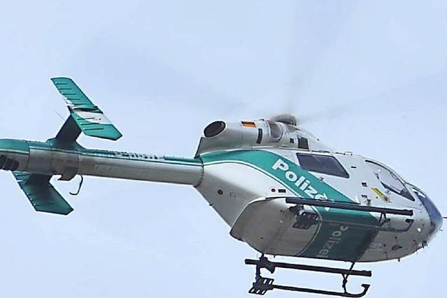Einbrüche: Fahndung mit Hubschrauber