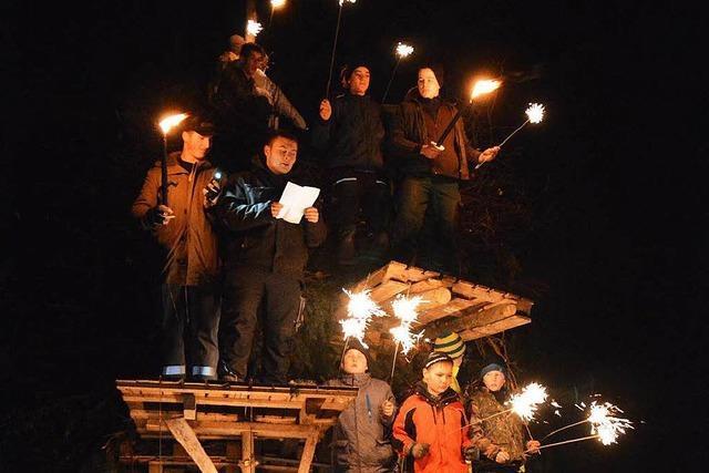 Zehn Fasnachtsfeuer lodern in der Gemeinde Efringen-Kirchen