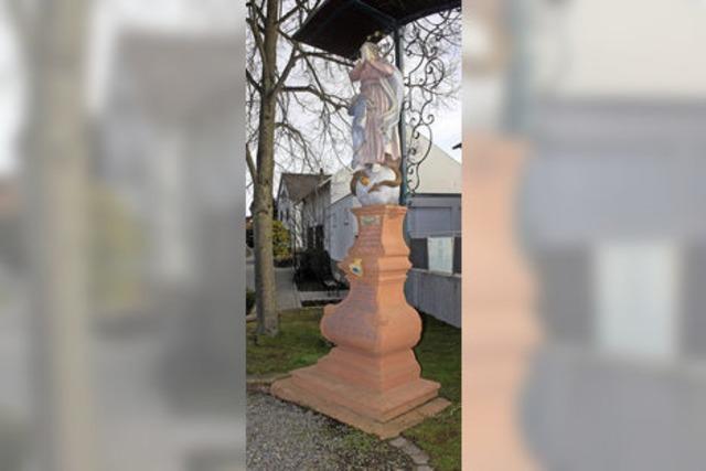 Marienstatue ist renoviert