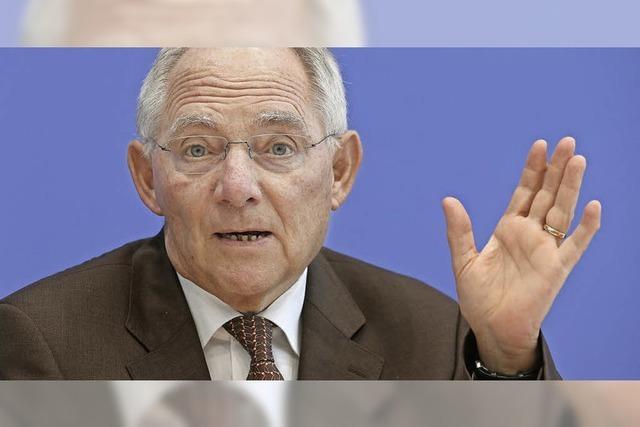 Schäuble bleibt sparsam