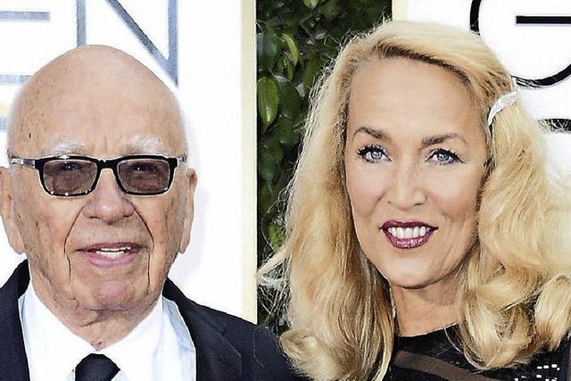 Rupert Murdoch feiert seine Hochzeit mit Jerry Hall