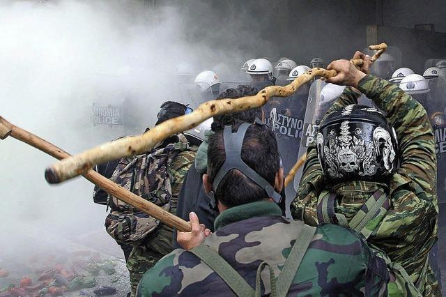 Wütende Proteste in Athen