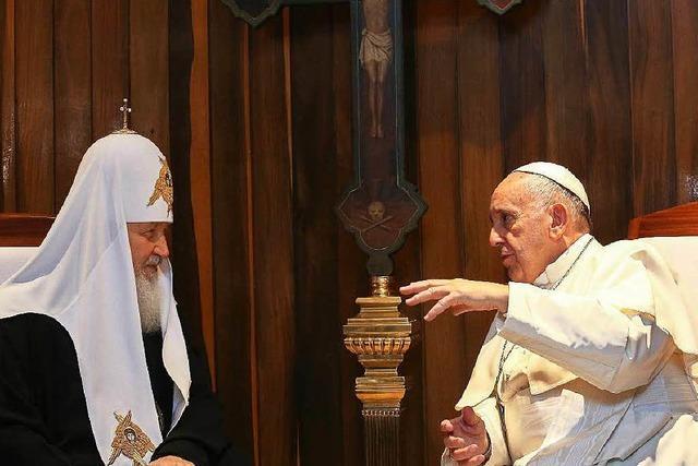Papst trifft Patriarchen: Erstes Treffen seit der Kirchenspaltung