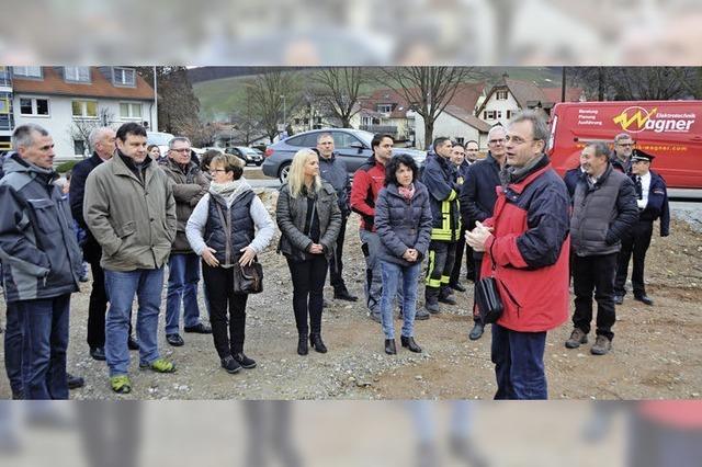 Richtfest: Beim Bau des neuen Feuerwehrhauses geht es voran
