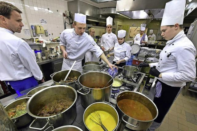 Viergänge-Menü beim Wettbewerb des Koch-Nachwuchses