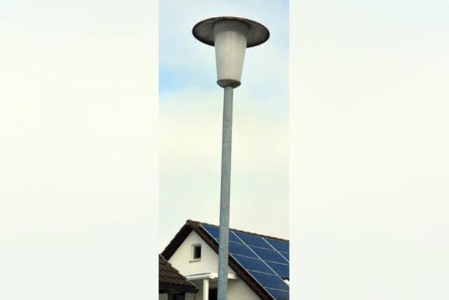 Konzept für die Straßenbeleuchtung