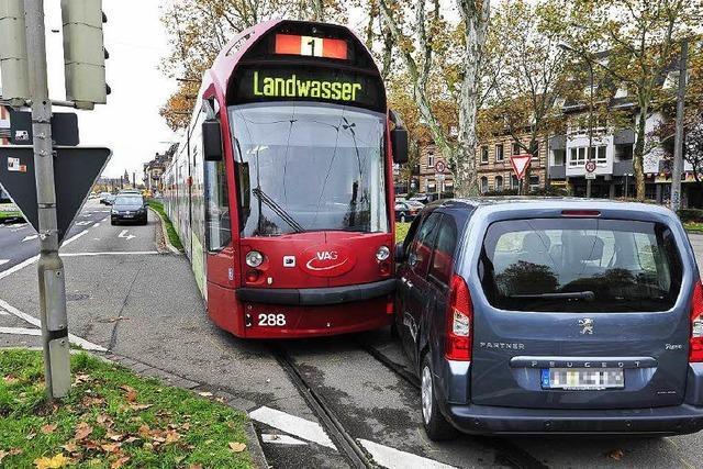 2015 hat es im Freiburger Tramnetz 62 Mal gekracht