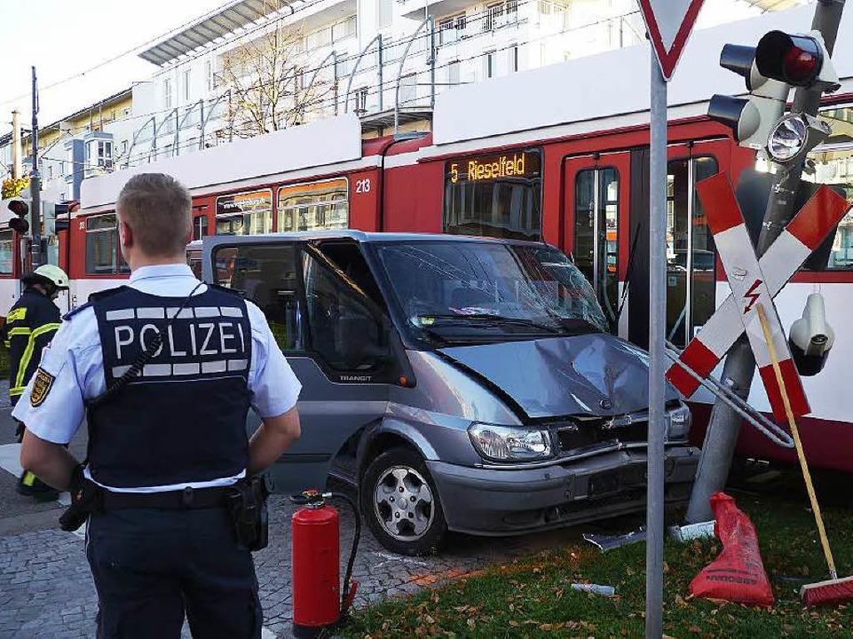 Foto von 2013: Unfall im Rieselfeld    Foto: Patrick Kerber