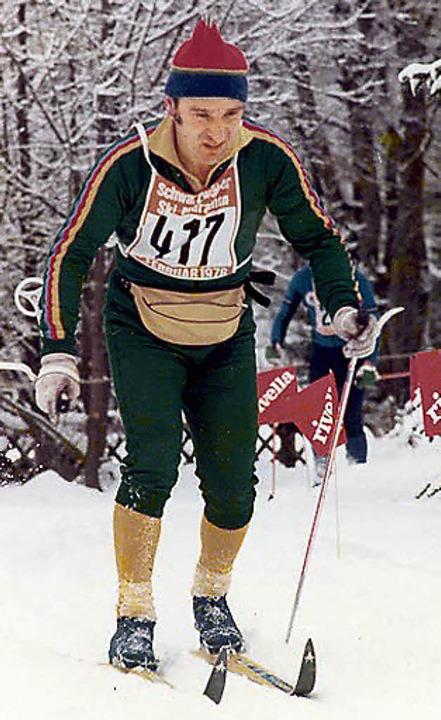 In der Spur: Werner Morath  beim Schwarzwälder Ski-Marathon    Foto: privat