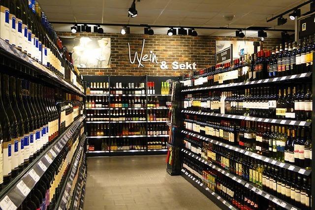 Neue Weinabteilung im Edeka Endingen