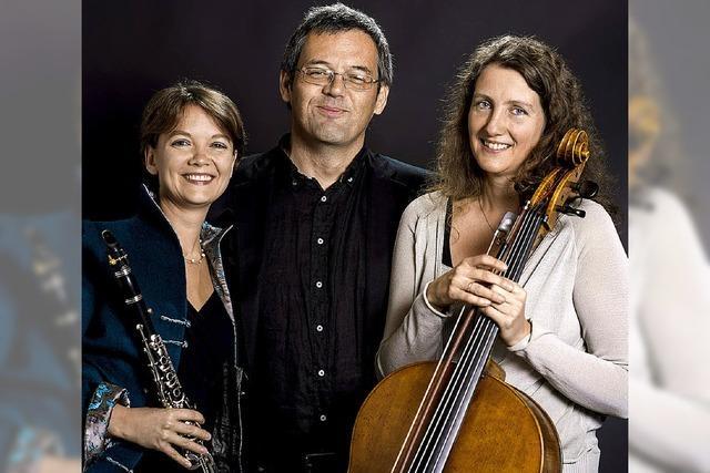 Das Trio Kartaus spielt im Kreuzgang am Rathausplatz
