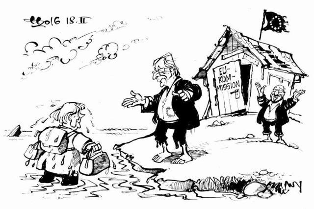 Juncker gewährt Merkel Asyl!