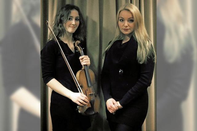 Clara Bordeix (Violine) und Mariia Lidenko (Klavier) gastieren im alten Schloss in Wehr